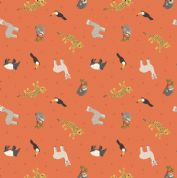 Lewis & Irene - Small Things World Animals - 6890 - South American, Orange - SM26.3 - Cotton Fabric